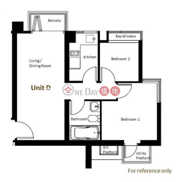 筲箕灣兩房一廳筍盤出租 住宅單位 遠晴(Le Riviera)出租樓盤 (EVHK86049)
