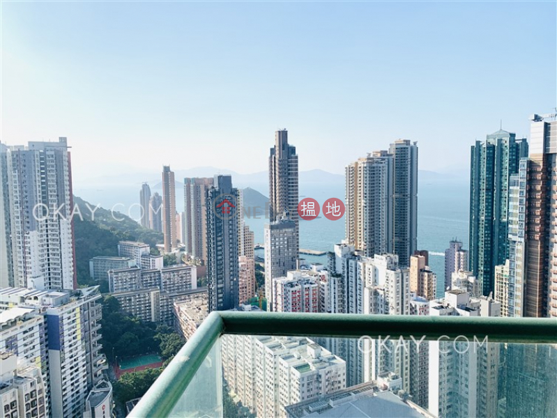 Property Search Hong Kong | OneDay | Residential Rental Listings Elegant 3 bed on high floor with sea views & balcony | Rental