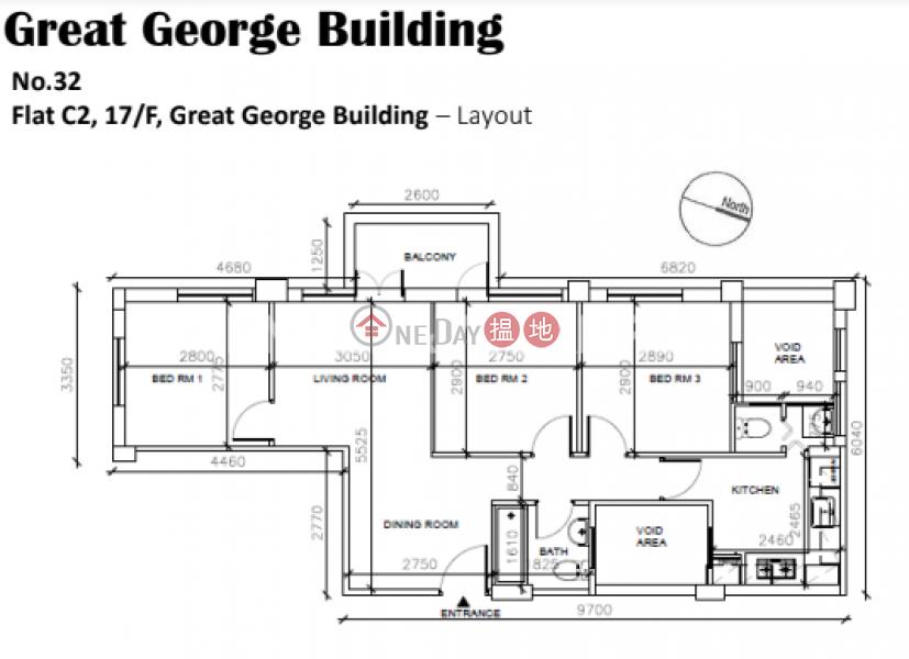 銅鑼灣三房兩廳筍盤出租|住宅單位|華登大廈(Great George Building)出租樓盤 (EVHK64206)