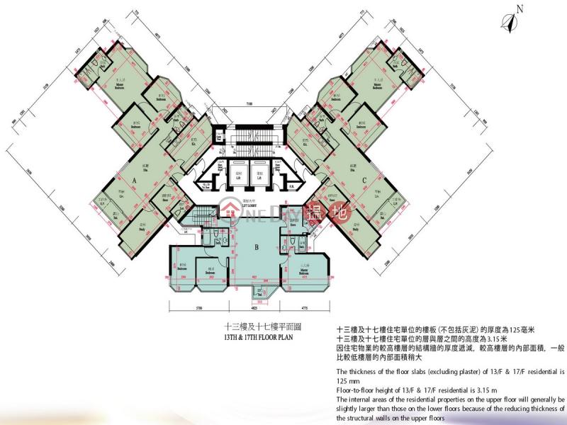 油柑頭4房豪宅筍盤出租|住宅單位-8寶豐台 | 荃灣|香港|出租|HK$ 33,500/ 月