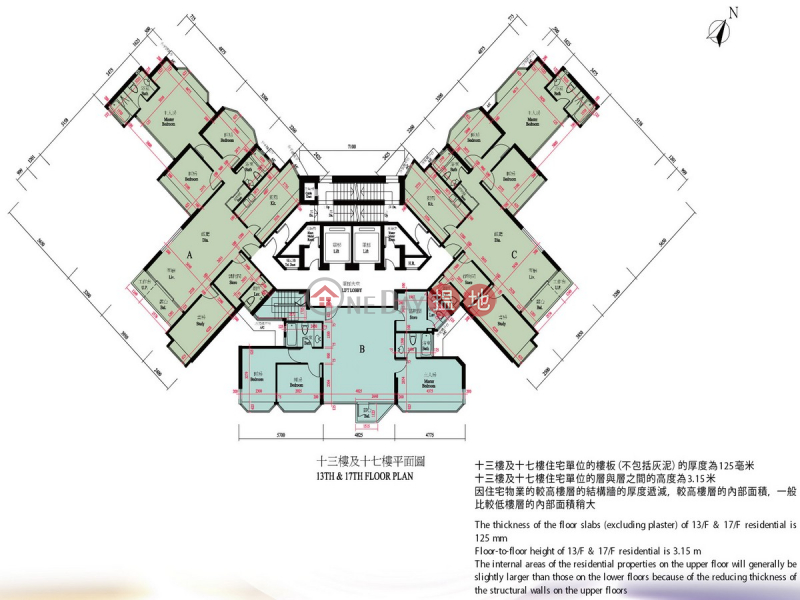 4 Bedroom Luxury Flat for Rent in Yau Kam Tau | 8 Po Fung Terrace | Tsuen Wan Hong Kong Rental, HK$ 33,500/ month