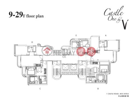 西半山一房筍盤出租|住宅單位|西區CASTLE ONE BY V(Castle One By V)出租樓盤 (EVHK41042)_0