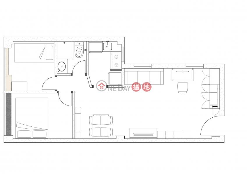 HK$ 14,200/ 月|源發大廈-油尖旺|罕有, 2分鐘到朗豪坊,2房2廳,平租, 價錢可議