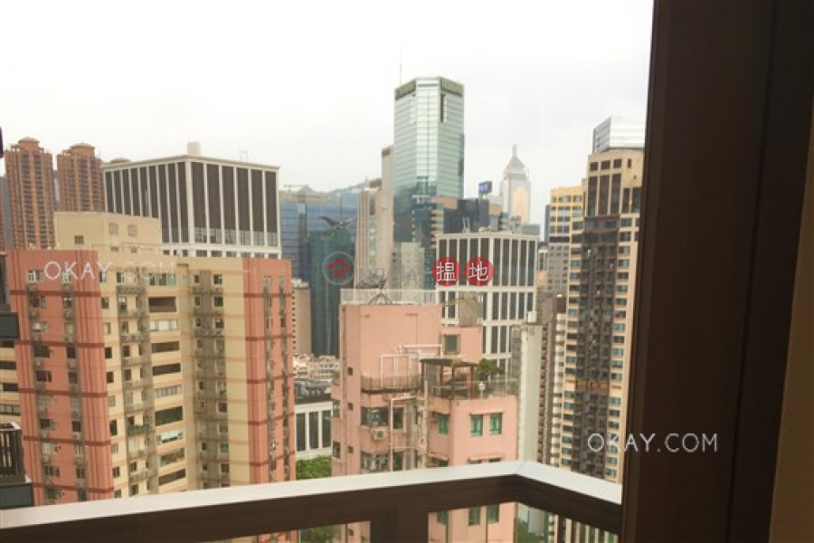 Unique 1 bedroom on high floor with sea views & balcony | For Sale | 9 Warren Street | Wan Chai District Hong Kong Sales | HK$ 11M