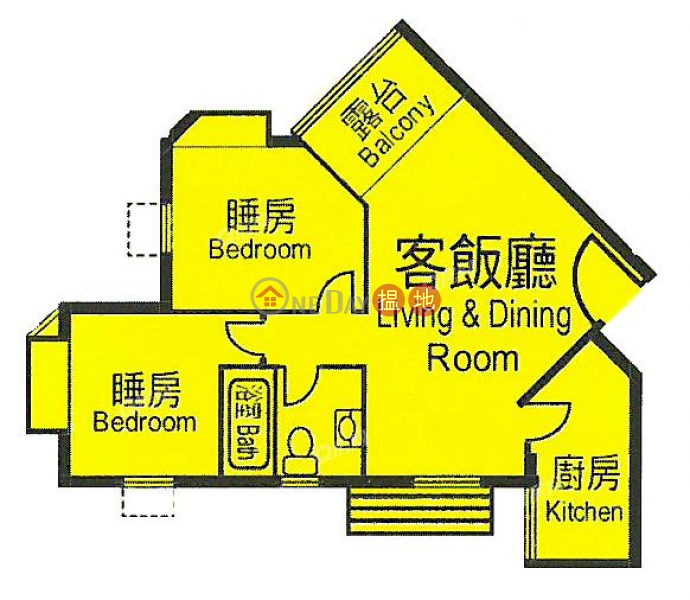 Property Search Hong Kong | OneDay | Residential Rental Listings | Heng Fa Chuen Block 50 | 2 bedroom High Floor Flat for Rent