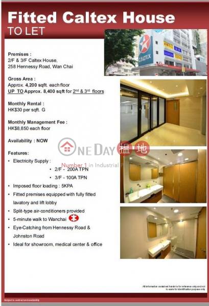 4200sq.ft Office for Rent in Wan Chai, Caltex House 德士古大廈 Rental Listings | Wan Chai District (H000347702)