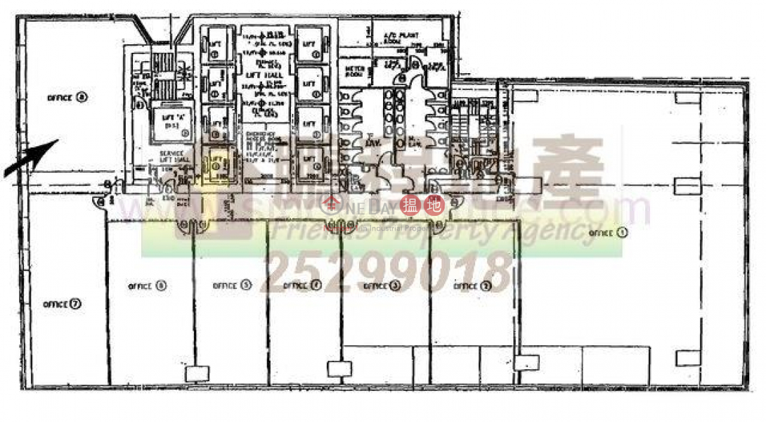 1580sq.ft Office for Rent in Wan Chai, 248-256 Queens Road East | Wan Chai District, Hong Kong | Rental HK$ 62,410/ month