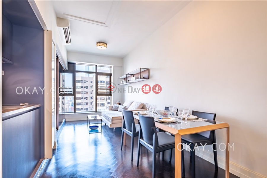 HK$ 42,000/ month Castle One By V, Western District Tasteful 1 bedroom on high floor with balcony   Rental