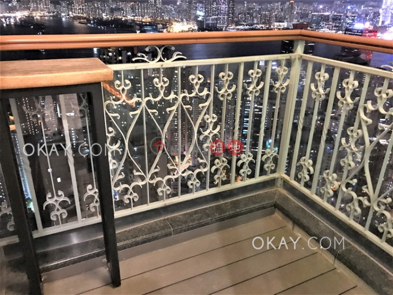 HK$ 40,000/ month, 2 Park Road Western District Gorgeous 2 bed on high floor with sea views & balcony | Rental