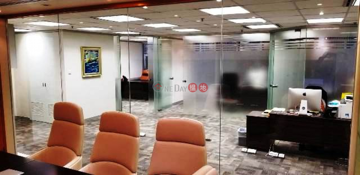 Property Search Hong Kong | OneDay | Office / Commercial Property | Rental Listings, Sea view cum mountain view office on high floor in Lippo Tower for lettting, good deco