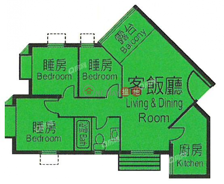Heng Fa Chuen Block 22 | 3 bedroom Mid Floor Flat for Sale 100 Shing Tai Road | Eastern District, Hong Kong Sales HK$ 9.6M