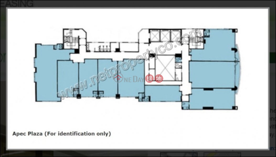 HK$ 26,579/ month Apec Plaza Kwun Tong District, Office for Rent in Kwun Tong