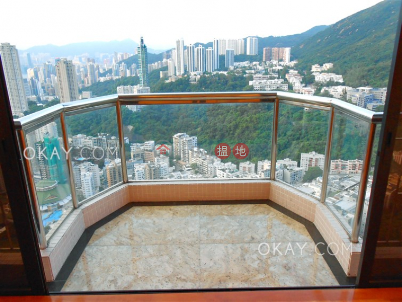 Lovely 3 bed on high floor with harbour views & balcony | Rental 8A-8B Wong Nai Chung Gap Road | Wan Chai District Hong Kong | Rental | HK$ 80,000/ month