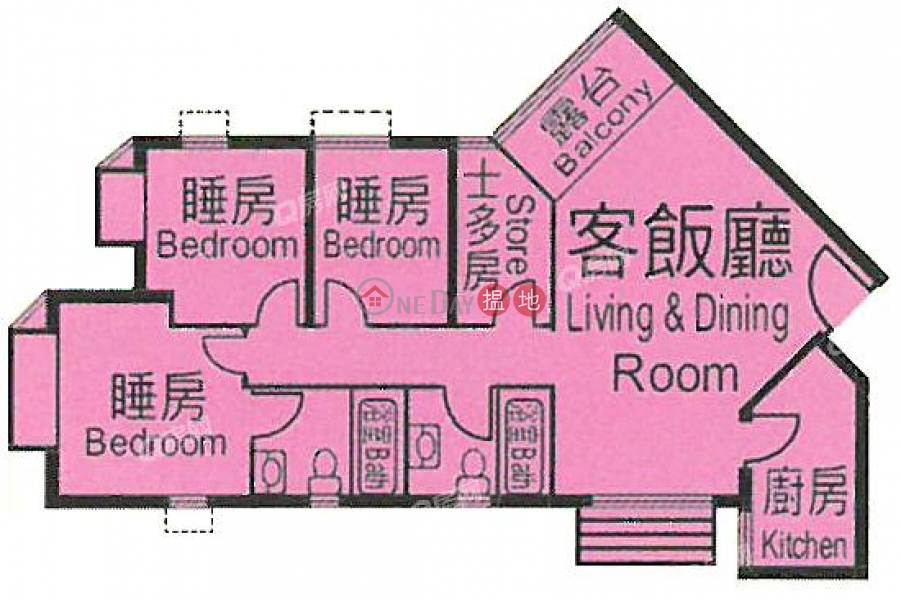 Heng Fa Chuen Block 50 | 2 bedroom Mid Floor Flat for Sale 100 Shing Tai Road | Eastern District Hong Kong Sales | HK$ 16.2M