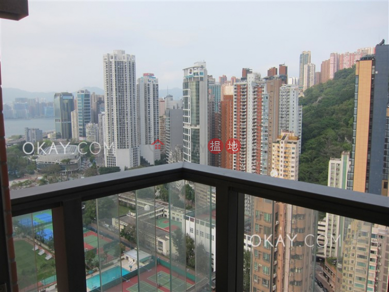 Property Search Hong Kong | OneDay | Residential, Rental Listings | Cozy 1 bed on high floor with harbour views & balcony | Rental
