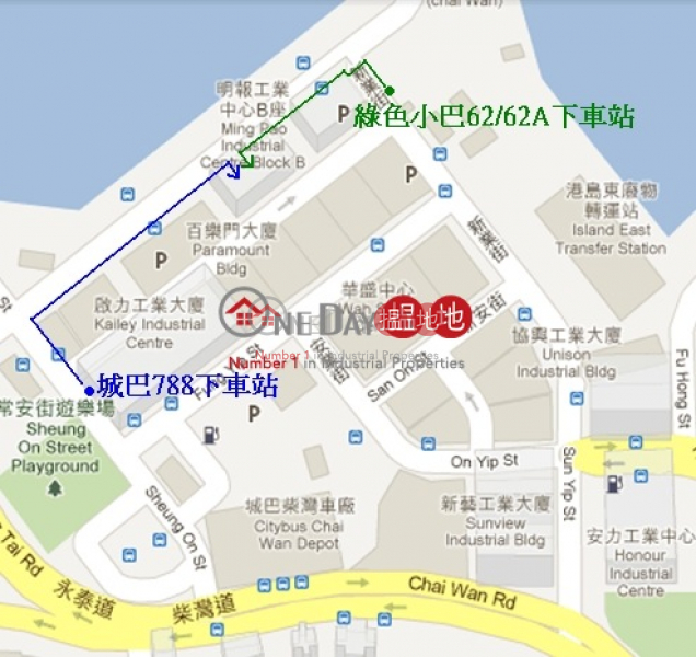 office and warehouse, Summit Industrial Building 新業大廈 Rental Listings   Chai Wan District (ailee-06116)