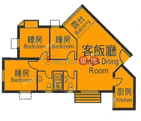 單邊三房則皇,罕有向南《杏花邨50座買賣盤》|杏花邨50座(Heng Fa Chuen Block 50)出售樓盤 (QFANG-S91251)_0
