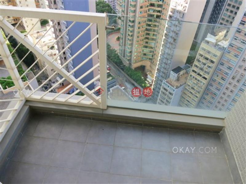 1房1廁,極高層,星級會所,露台干德道38號The ICON出租單位|38干德道 | 西區-香港-出租|HK$ 25,000/ 月