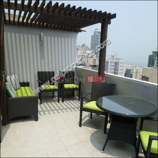 1-bedroom penthouse with rooftop for lease in Sai Wan | True Light Building 真光大廈 Rental Listings