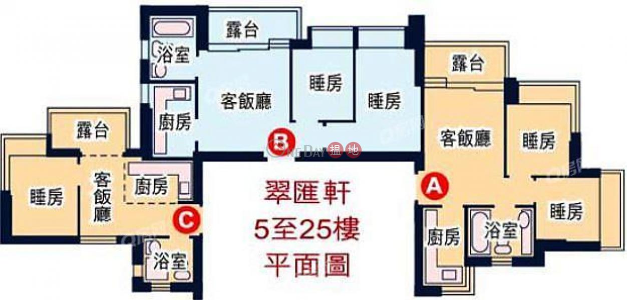 HK$ 528萬翠匯軒油尖旺-景觀開揚,環境清靜,間隔實用,鄰近高鐵站,交通方便《翠匯軒買賣盤》
