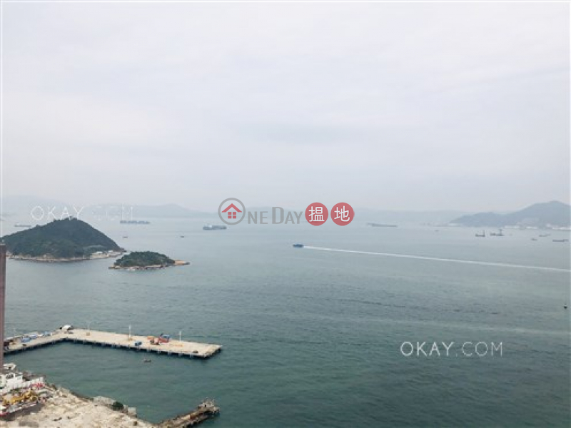 HK$ 10.5M, Cadogan Western District, Luxurious 1 bed on high floor with sea views & balcony | For Sale