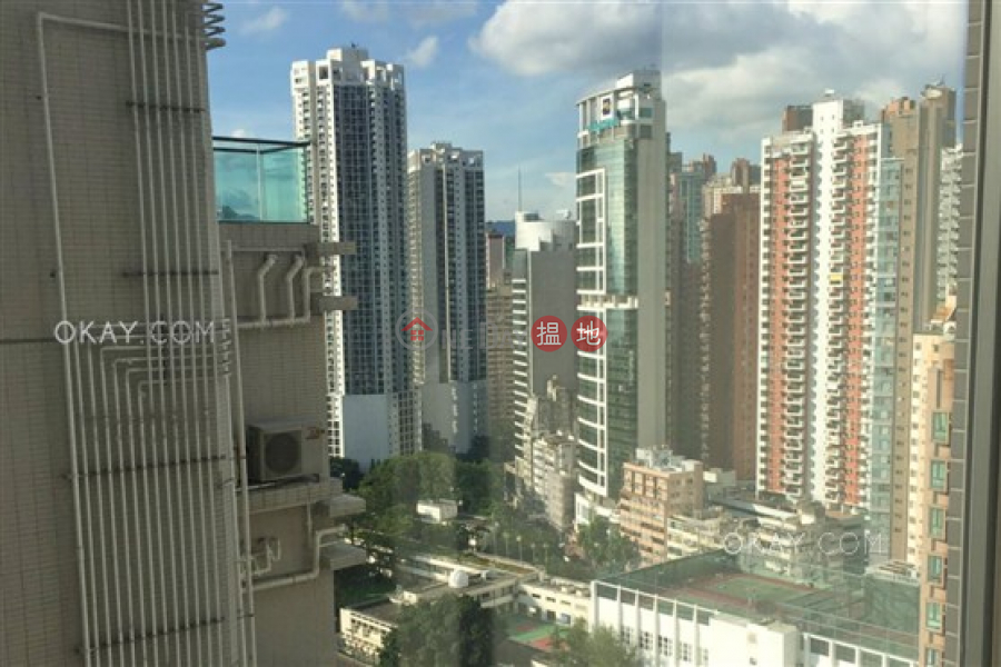 Property Search Hong Kong | OneDay | Residential Rental Listings | Unique 1 bedroom on high floor with sea views & balcony | Rental
