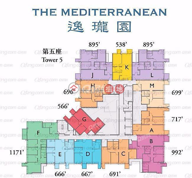 Property Search Hong Kong | OneDay | Residential | Sales Listings The Mediterranean Tower 5 | 3 bedroom High Floor Flat for Sale
