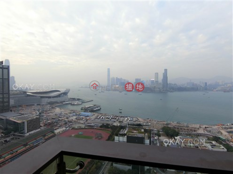 HK$ 45,000/ month, The Gloucester | Wan Chai District, Elegant 2 bed on high floor with sea views & balcony | Rental