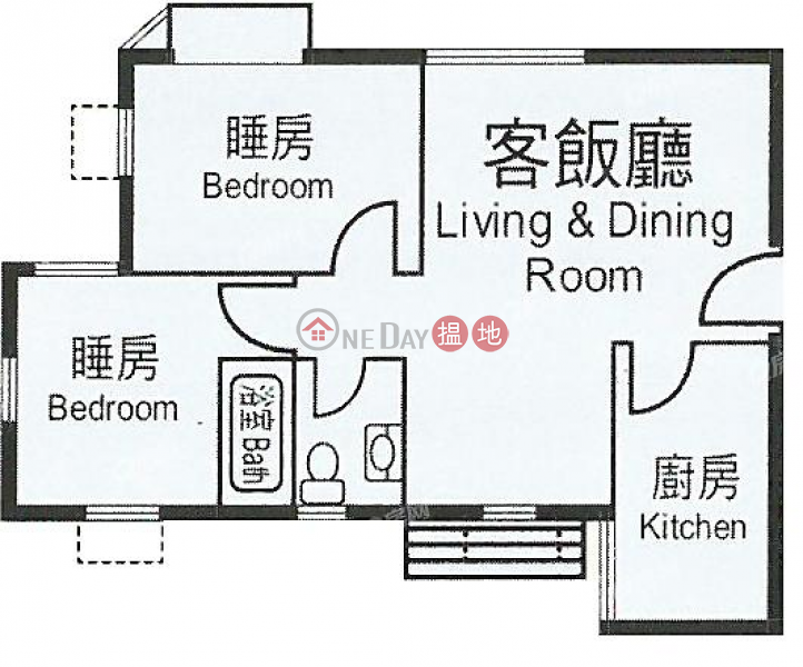 Heng Fa Chuen Block 37 | 2 bedroom Low Floor Flat for Sale | 100 Shing Tai Road | Eastern District Hong Kong, Sales, HK$ 8.85M