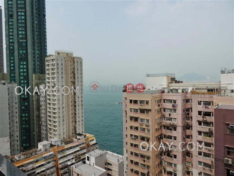 Cozy 3 bedroom on high floor with sea views & balcony | Rental | 18 Catchick Street 吉席街18號 Rental Listings