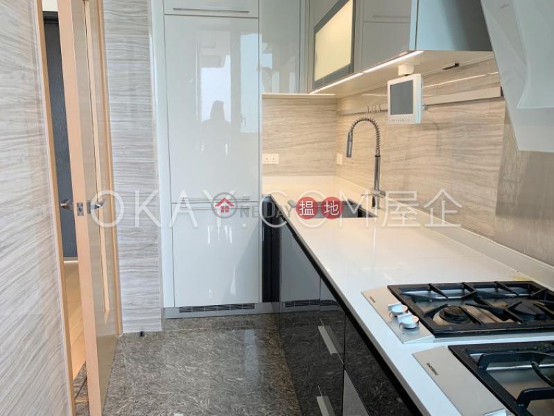 HK$ 33,000/ month   Upton, Western District   Tasteful 1 bedroom with harbour views & balcony   Rental