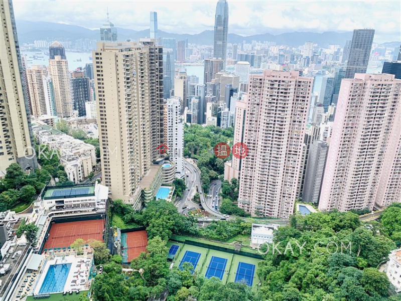 Stylish 3 bed on high floor with sea views & balcony | Rental | 7 May Road | Central District, Hong Kong | Rental | HK$ 94,000/ month