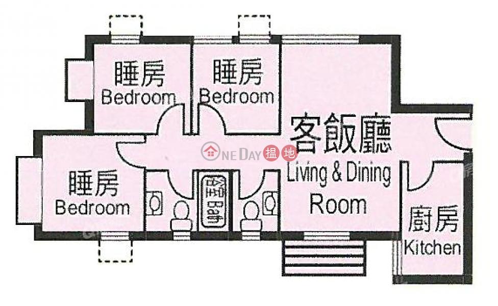 HK$ 26,000/ 月-杏花邨26座|東區-3房則皇,罕有靚盤《杏花邨26座租盤》