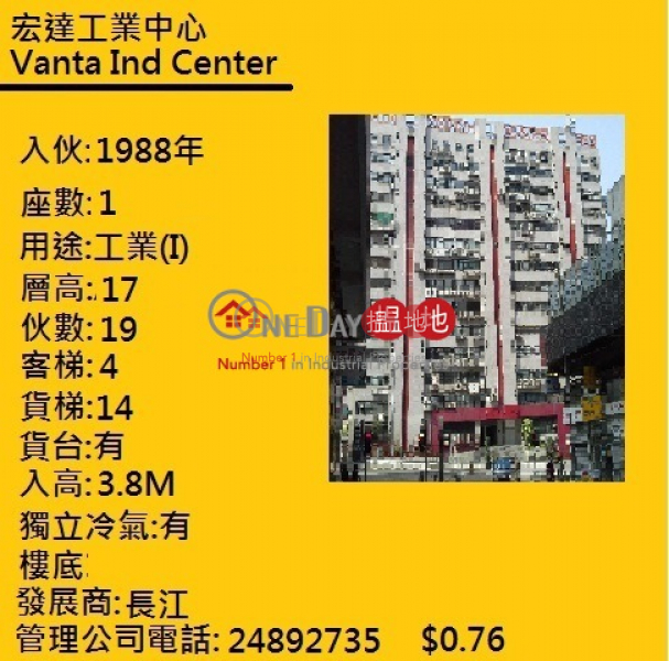 Vanta Industrial Centre 21-33 Tai Lin Pai Road | Kwai Tsing District, Hong Kong, Rental | HK$ 28,000/ month
