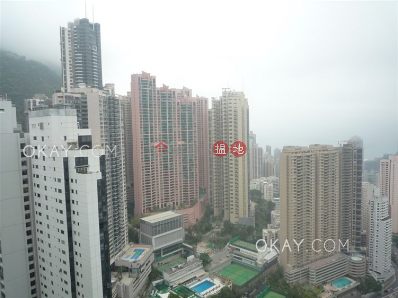 HK$ 92,000/ month | Branksome Crest, Central District Stylish 3 bedroom on high floor with balcony & parking | Rental