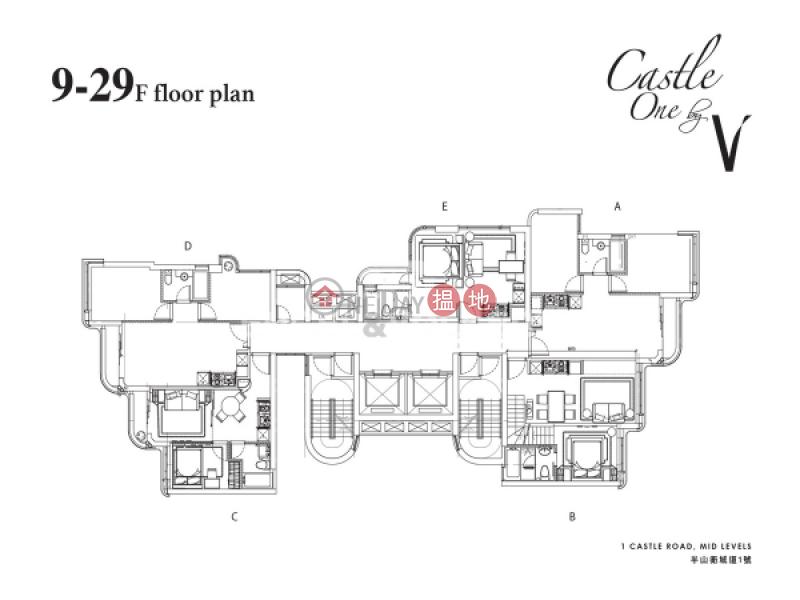 西半山一房筍盤出租|住宅單位|西區CASTLE ONE BY V(Castle One By V)出租樓盤 (EVHK41042)