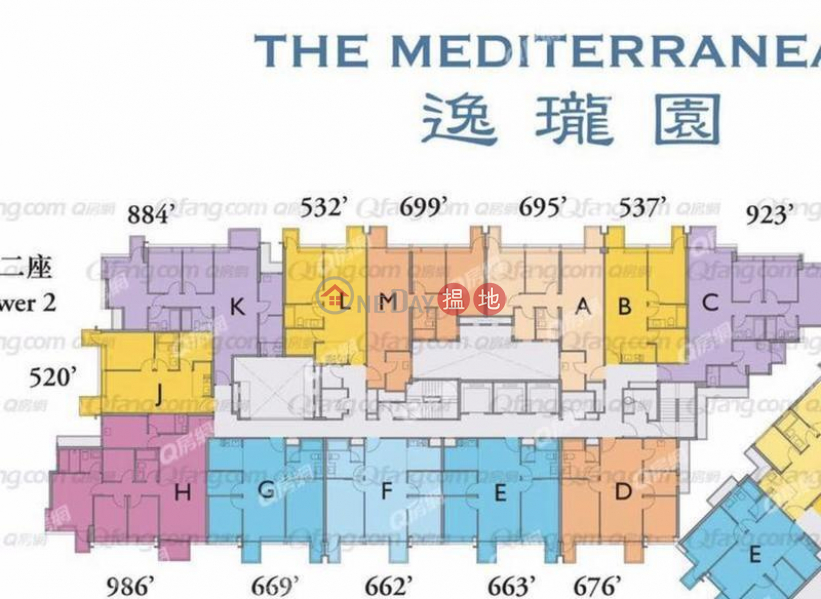 Property Search Hong Kong | OneDay | Residential Sales Listings The Mediterranean Tower 2 | 3 bedroom Flat for Sale