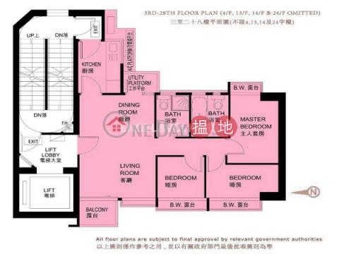 九龍城三房兩廳筍盤出租|住宅單位|匯豪(Luxe Metro)出租樓盤 (EVHK44928)_0