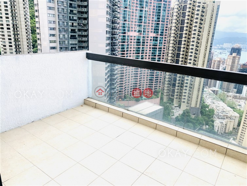 Property Search Hong Kong | OneDay | Residential Rental Listings | Stylish 3 bed on high floor with sea views & balcony | Rental