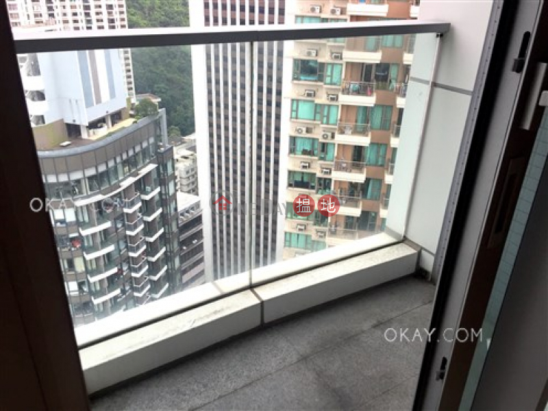 1房1廁,極高層,露台壹環出租單位 壹環(One Wan Chai)出租樓盤 (OKAY-R261555)