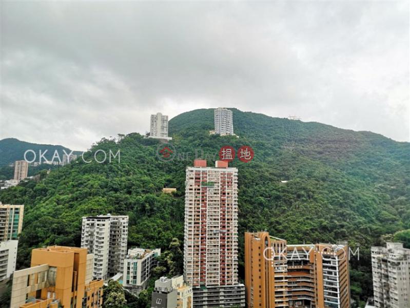 Cozy 1 bedroom on high floor with sea views & balcony | Rental | One Wan Chai 壹環 Rental Listings