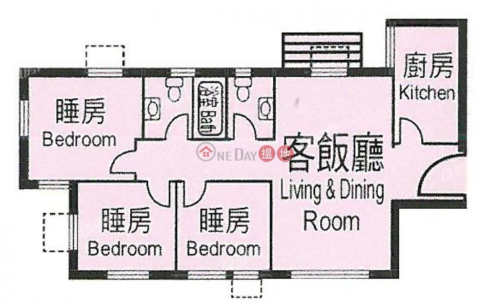 實用三房靚則,罕有單邊靚盤《杏花邨39座買賣盤》|杏花邨39座(Heng Fa Chuen Block 39)出售樓盤 (QFANG-S88005)