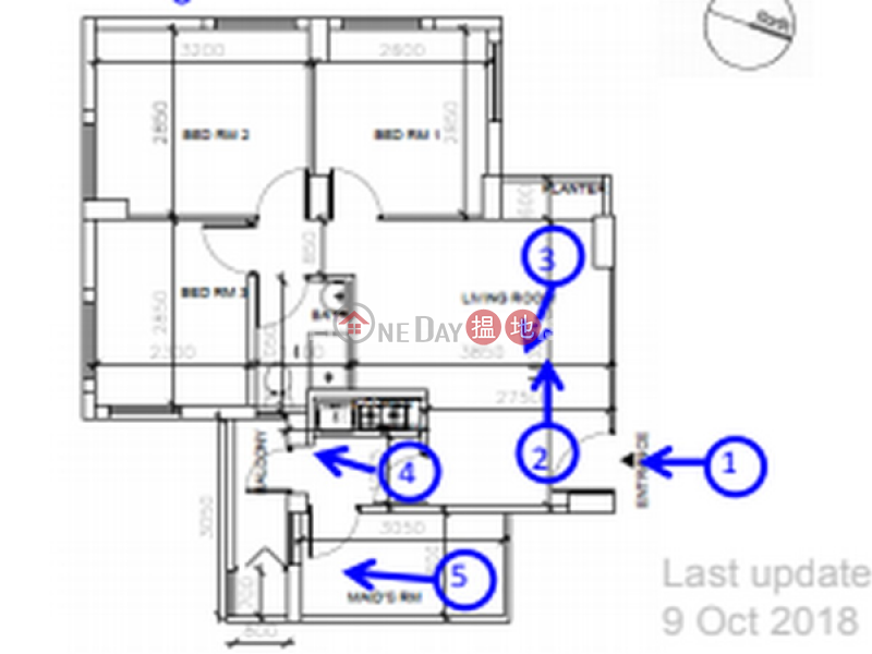 銅鑼灣三房兩廳筍盤出租 住宅單位 華納大廈(Vienna Mansion)出租樓盤 (EVHK44453)