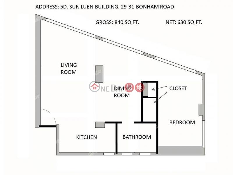 Sun Luen Building | 1 bedroom Mid Floor Flat for Sale, 29-31 Bonham Road | Western District, Hong Kong, Sales HK$ 11.5M