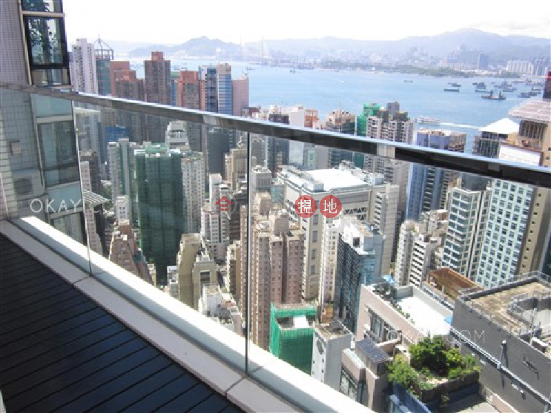 Property Search Hong Kong | OneDay | Residential | Sales Listings | Unique 3 bed on high floor with harbour views & balcony | For Sale