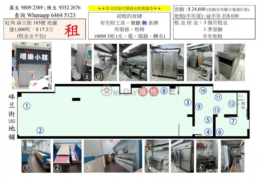 香港搵樓|租樓|二手盤|買樓| 搵地 | 商舖-出租樓盤-旺角1000呎旺舖出租