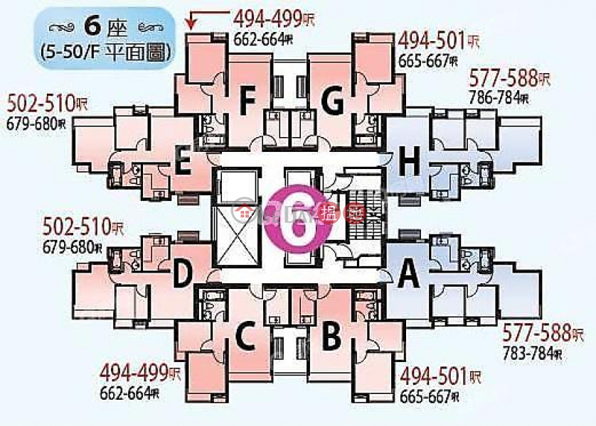 HK$ 20,300/ month, Aqua Marine Tower 6 | Cheung Sha Wan Aqua Marine Tower 6 | 2 bedroom Mid Floor Flat for Rent