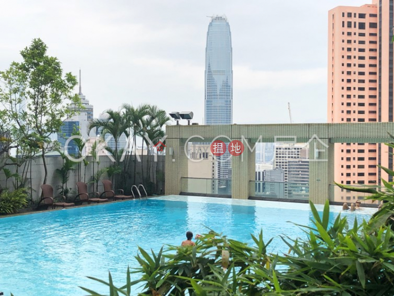 HK$ 104,000/ month Queen\'s Garden   Central District   Beautiful 2 bed on high floor with balcony & parking   Rental