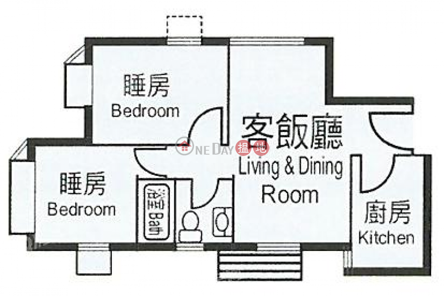 HK$ 19,000/ month | Heng Fa Chuen | Eastern District, Heng Fa Chuen | 2 bedroom Mid Floor Flat for Rent
