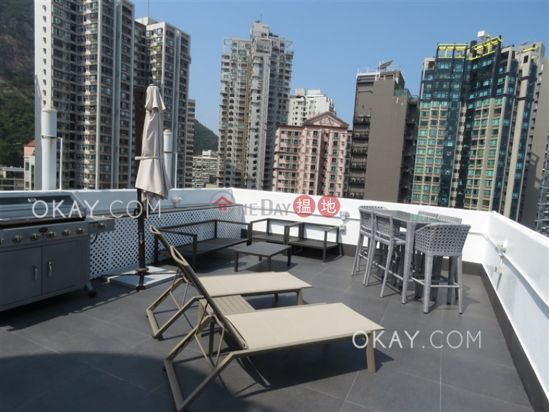Property Search Hong Kong | OneDay | Residential, Rental Listings | Stylish 2 bed on high floor with sea views & rooftop | Rental